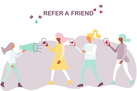 Word of mouth advertising refer a friend concept