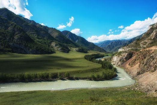 Katun river, in the Altai mountains, Siberia, Russia