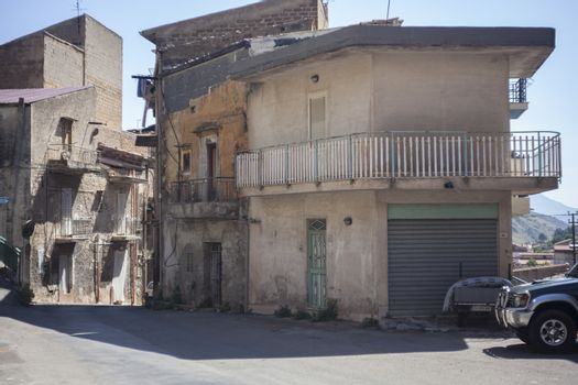 Sicilian village houses
