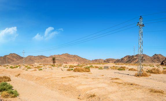 Electric in desert