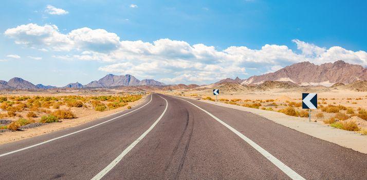 Panorama of road