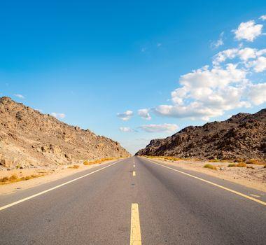 Road in Egyptian desert