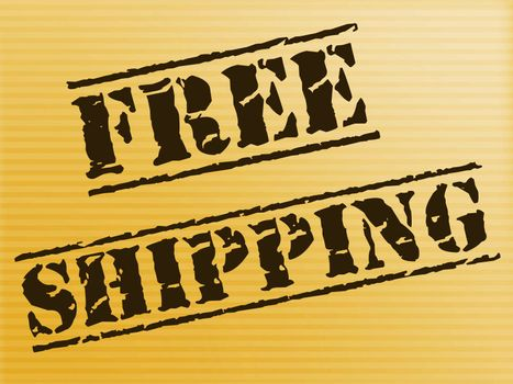 Free shipping of goods at no charge means nothing paid. Delivery price included in the selling amount - 3d illustration