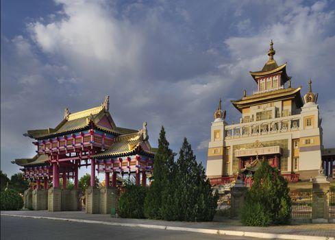 Buddhist Temple in Elista (Russia, Republic Kalmykia).