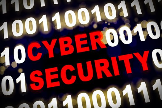 Cyber security with machine code around the word