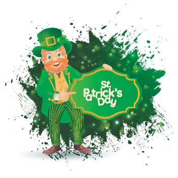 Happy leprechaun man character on the occasion of St. Patrick's
