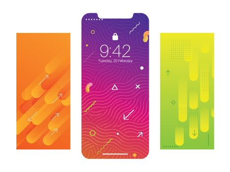 Abstract wallpaper collection for smartphone application window screen.