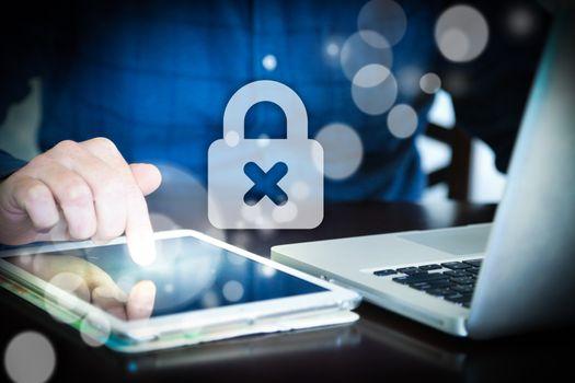 Padlock Computer, computer security using technology entering password