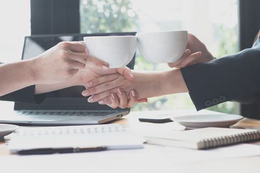 Business young woman agree to be partner