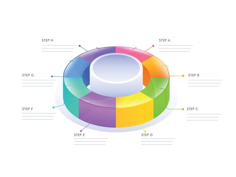 3D circular infographic diagram for Business or corporate sector