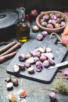 Healthy seasonal vegetables