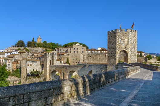 Romanesque bridge, Besalu, Spain