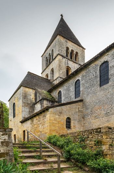 The Romanesque church, Saint-Leon-sur-Vezere, France