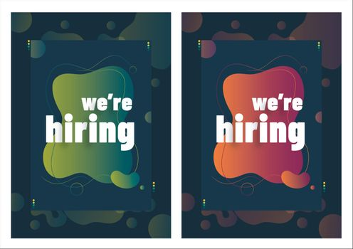 Set of two We Are Hiring poster or flyer design for job vacancy