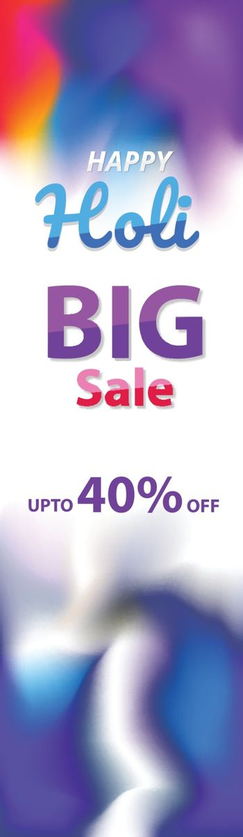Vertical header or banner design with 40% discount offer for Hap