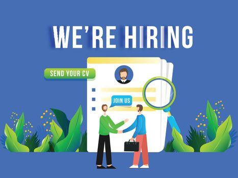 We are hiring people join us team for job vacancy concept. Adver