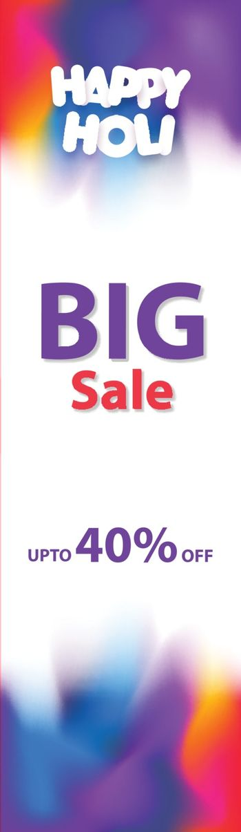 Advertising vertical header or banner design with 40% discount o