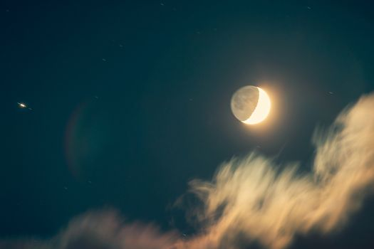 Night of a moon eclipse