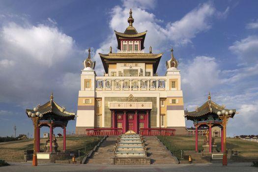 Elista, Russia. Buddhist complex Golden Abode of Buddha Shakyamu