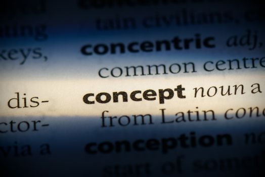 concept word in a dictionary. concept concept.