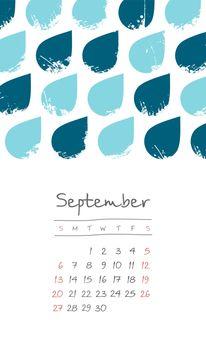 Calendar 2020 months September. Week starts Sunday
