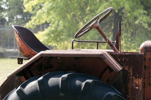 Old rusty tractor.
