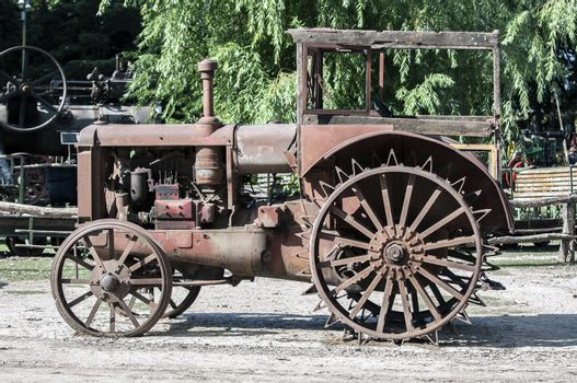 Old rusted tractor.