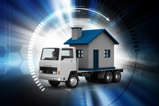 truck carrying home