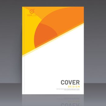 Business or corporate sector template, cover design layout on gr