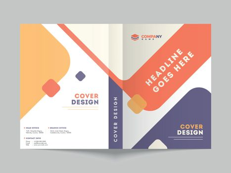 Cover design or template layout for business or corporate sector