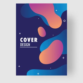 Business or corporate sector cover design layout with fluid art