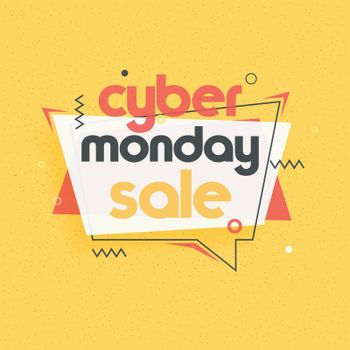 Promotional, advertisement template or flyer design for Cyber Monday Sale.