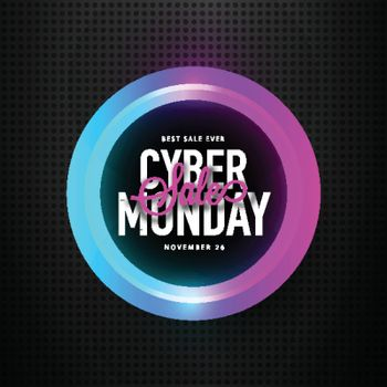 Cyber monday sale background.