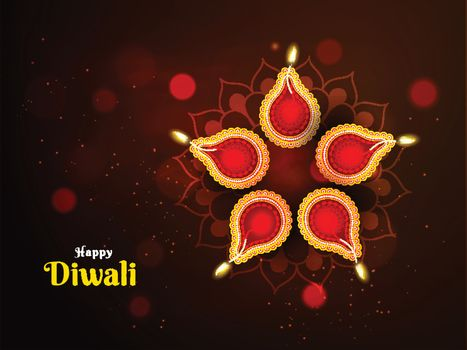 Beautiful decoration on the occasion of Diwali Festival with ill