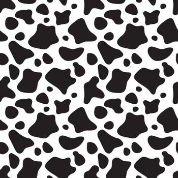 Seamless pattern black and white. Cow hide background