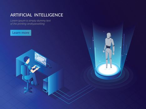 Analyst analyse the humanoid robotic system for Artificial Intel