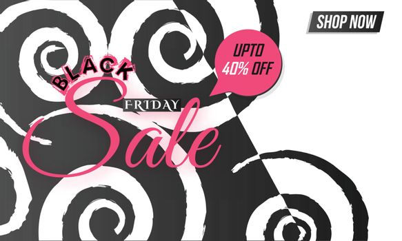 Creative poster or banner design with 40% discount offer, Promot