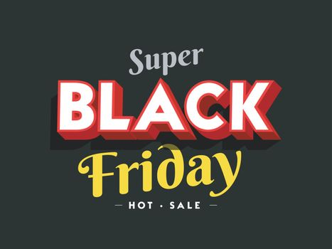 Super Black Friday Sale poster or template design for advertising concept.