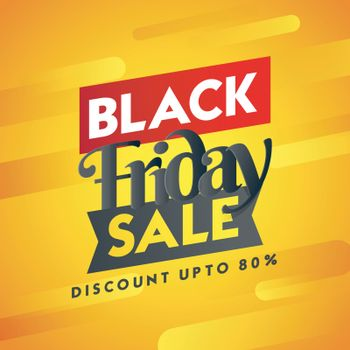 Discount up to 80% on Black Friday Sale. Abstract orange template or flyer design for advertising concept.