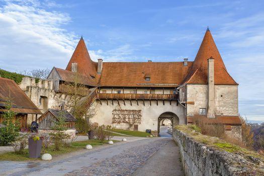 Georg's Gate in Burghausen Castle, Upper Bavaria, Germany