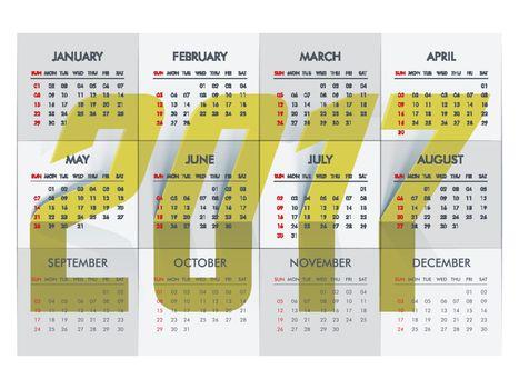 2017 Calendar Planner design.