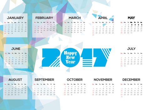 Abstract Calendar of 2017.