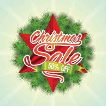 Christmas Sale Poster, Banner or Flyer.