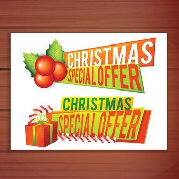 Christmas Offer Banner design.