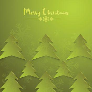 Merry Christmas celebration background decorated with Xmas Tree.
