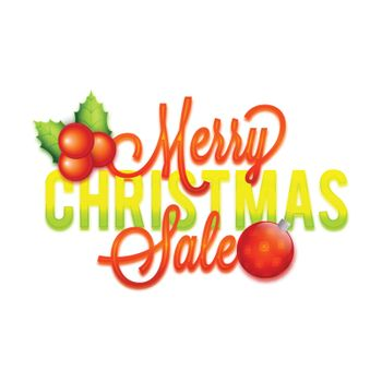 Merry Christmas Sale Poster, Banner.