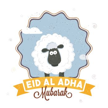 Eid-Al-Adha Mubarak poster, banner or flyer.