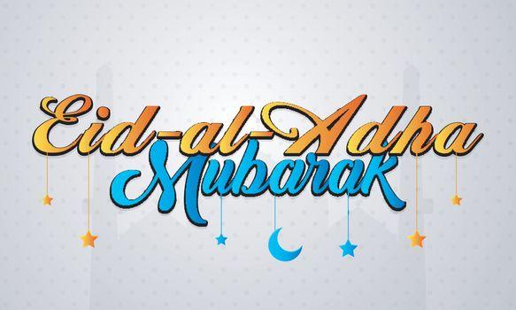 Eid-Al-Adha Mubarak poster, banner or flyer design.