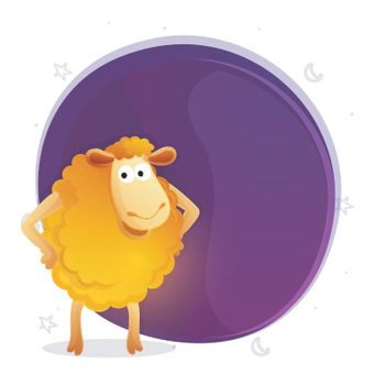 Golden Sheep for Eid-Al-Adha celebration.