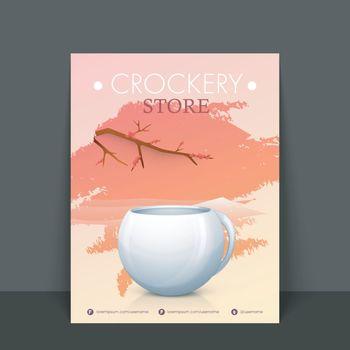 Crockery Store Flyer, Template or Banner design.